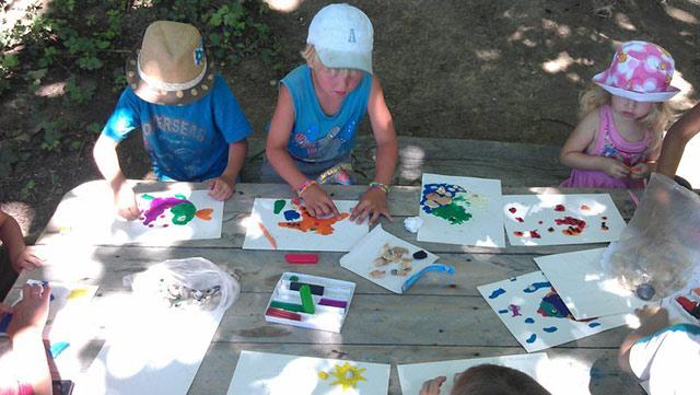 Занятие с детьми в экопоселении