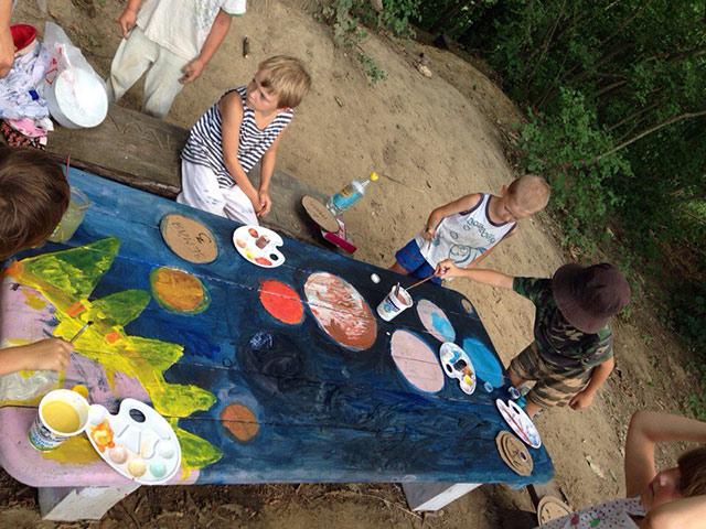 Космос на столе рисование с детьми в родовых поселениях